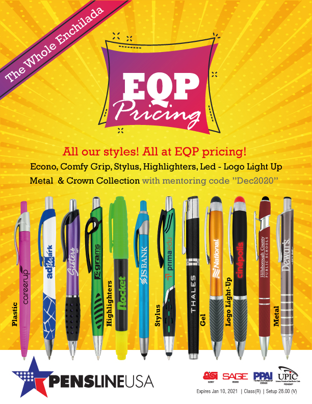 EQP Pricing on all our Products.