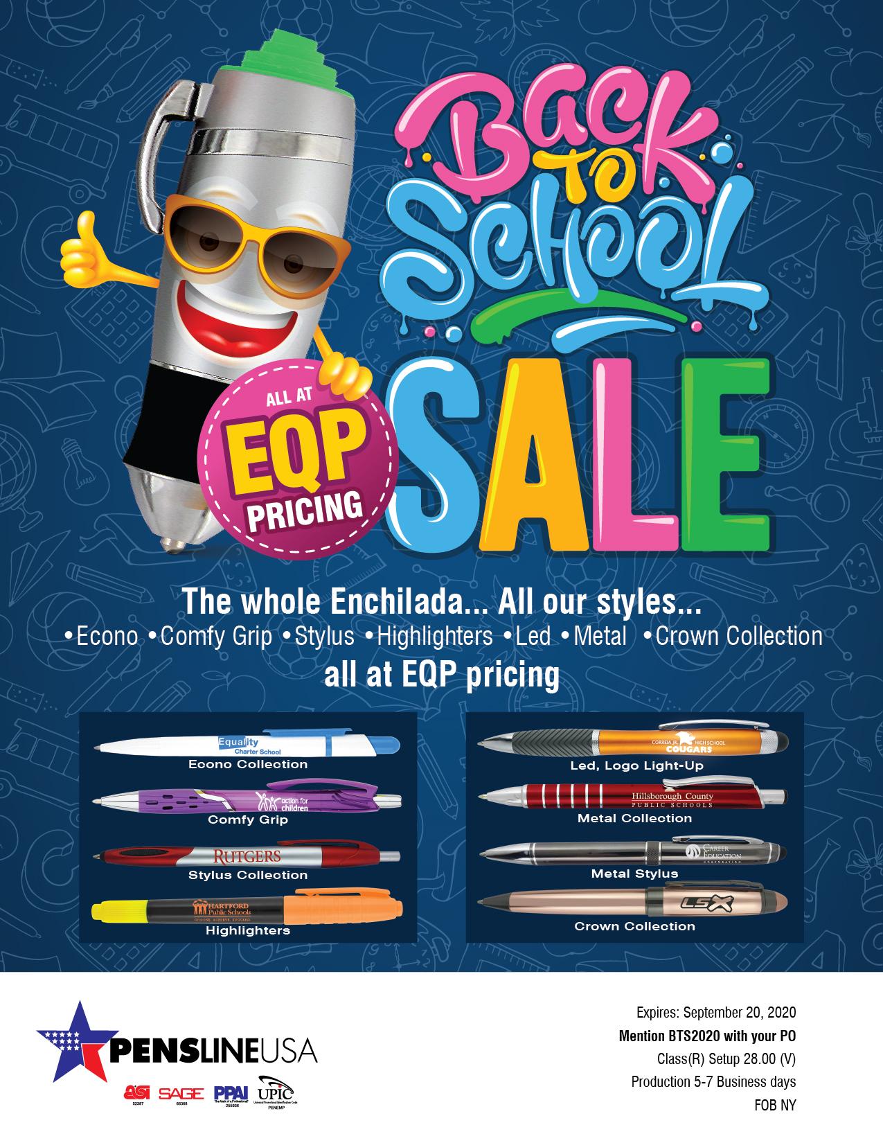 Back to School Promo Pen Specials